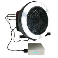 3 in 1 USB portatile ricaricabile della tenda della luce Fan LED lampada lanterna con gancio per escursione di campeggio esterna SDF-NAVE