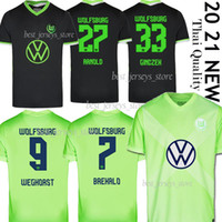 2020 2021 VFL WOLFSBURG Fussball Jersey Home Away Kids Kit Brekalo Roussillon Fußball Uniform Klaus Xaver Malli Weghorst Football Hemden 20/21