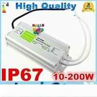 Impermeável LED driver adaptador 12V alta potência 10W 20W 30W 45W 60W 80W 100W 120W 150W 200W Led Power Supply Transformer DC 12V
