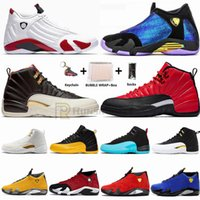Nike Air Jordan Fast Shipping Jumpman 14 14s Chameleon Doernbecher Candy Cane Bred Mens tênis de basquete 12 12s Asas CNY o mestre Sneakers Retroes Esportes
