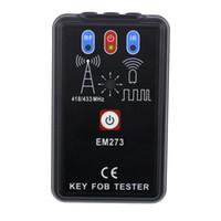 Allsun 휴대용 열쇠 고리 (Key Fob) 테스터 무선 주파수 적외선 차량용 리모컨 웨이브 분석기 도구 EM273 신호 수신기