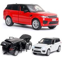 Alloy Car Land-Rover Modelo Range Rover Sports som e luz Voltar Crianças brinquedos favoritos