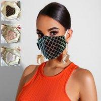 Sequins Yüz Maskeleri Bling Avrupa Amerikan Popüler Tasarım Maskeler Yaz İnce toz geçirmez Nefes Yıkanabilir kullanımlık erişkin Maske YYA307