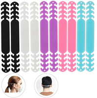 DHL Shipping Ear Strap Protector Hook Silicone Bandage Ear Rope Anti-slip Masks Extender 4 Gear Adjustable Face Mask Buckle for Unisex B168F