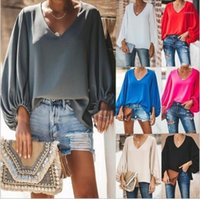 Sleeve V-Ausschnitt los Tops 20ss New Women Clothing Plus Size Frauen Designer Tshirts Lässige Laterne