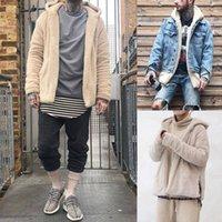 Erkek Kış Sıcak Polar Kapşonlu Mont Ceket Hoodies Jumper Hip Hop Serin Şık Dış Giyim Artı Boyutu M-3XL
