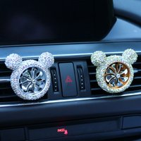 Universal Car Perfume Clip Car Air Freshener Car- encrusted A...