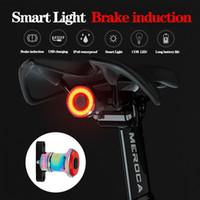 Велосипед задние фонари Интеллектуальный датчик тормозной фары USB Автомобильный велосипед MTB Задние задние фонари аккумуляторные велосипед легкие аксессуары