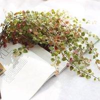 Decoração casa Artificial planta Rattan Cordas Artificial Ivy Green Leaf Garland plantas de videira Falso Folhagem Flower Room Decor