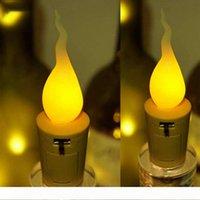 Stringa LED 2M 20LED rame lampada Wire bottiglia di vino della lampada sughero bianco caldo pile di per la festa di Natale della decorazione di DIY