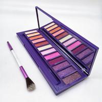 paleta de maquiagem Ultraviolet Paleta com escova Beleza 12 da sombra das cores de shimmer Matte colinas Maquiagem Paleta da DHL
