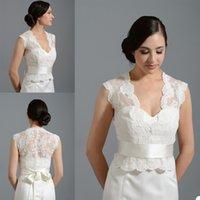 Кружева Applique Bridal Wridal с лентой Bolero для свадебных платьев на заказ кнопка назад с коротким рукавом