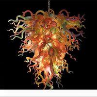 Moderno Lampadario Lampadario Europeo Multi Colorato Lampada Appeso Blown Crystal Glass Luster Lighting Home Decor