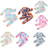 2020 Autumn New Baby Tie- dyed Clothing Sets Long Sleeve top ...