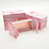 20 / Pack Lash Boxen Verpackung Wimperbox Custom Großhandel Faux CILS 3D Mink Wimpern Streifen Buch Stil Magnet Fall Bulk1