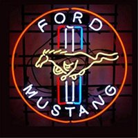 Ford Car Vehicles Neon Sign Handmade Real Glass Tube Bar Sto...