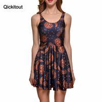 Vestidos informales Vestido Qickitout 2021 Llegada Tallas grandes Impresión digital de mujeres Antiguo Sunmoon Fitness Playa Vestidos