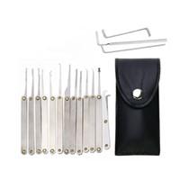 Crapa transparente 15piece bloqueio picks definido cadeado de prática de cadeado com ferramentas de serralheiro para prática de treinamento de treinamento de trava