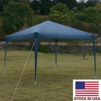 Bleu Pique-nique Pique-nique Raineux Day Day Caucheuse Voiture Sunshade 3 x 3m Pratique imperméable à l'eau pliante de tente pliante de tentes portables