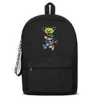 Classic grateful dead tropical dancing bear Canvas Bookbag B...
