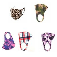 Leopard face Masks Camouflage Smogproof Dustproof Breathable Face Mouth Cover Unisex reusable Protective Adult Face Masks YYA304