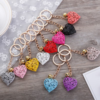 20pcs / lot cuore vuoto keychain in modo di fascino carino borsa pendente del sacchetto dell'anello portachiavi a catena ornamenti regalo Portachiavi T200804
