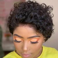 Wondero Curls Bob Lace Front Wigc 150 Desnity Pixie Cut Wigo Kurzes Curlg Human Hair Wigk Remy Brazilian Natur Curly Shorty Wigy