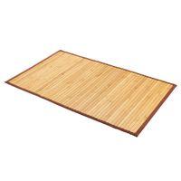 Estoque dos EUA Casa de banho impermeável antiderrapante 21 * 34 polegadas Tapete de bambu Porta de sala de estar prática Tapetes de terra