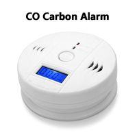 Allarme CO monossido di carbonio sensore del gas Monitor Avvelenamento del tester del rivelatore per la sorveglianza di sicurezza domestica senza batteria