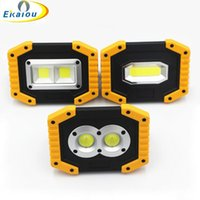 new Outdoor Survival Camping Light Rechargeable COB LED Work Light 18650 20W Large high brightness USB