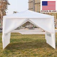 الولايات المتحدة الأمريكية نزهة الظل 10x10 بوصة الفناء خيمة حفل زفاف الخيام مظلة الأبيض المظلة الثقيلة ترقية قسم حديقة جناح