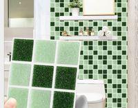 2020 pegatinas de pared Mts022 helado película de baldosas de mosaico cuadrado verde pasta de bricolaje decoración propia pasta adhesiva pasta de pared resistente al agua baja