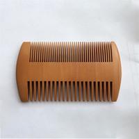 Dupla Face Health Care Madeira Barba Pente Peach Madeira Combs Log Cor bolso sólido Função escova de cabelo multi cabelo Ferramentas 1 85my B2