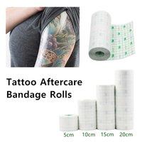 Tattoo Nachsorge Film Dressing Schutzwasserdichtes Adhesive Klar Second Skin Bandage Rolls Cling Film Tattoo Pflegebedarf 10CM 15CM 20CM