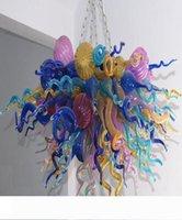 Spedizione gratuita AC Led lampadine 110v 240v romantica camera da letto Fiore Luce Design Forma soffiato di Murano Glass Art Chandelier
