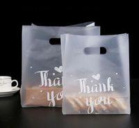 500 stücke danke brottasche kunststoff candy cookie geschenk tasche hochzeitsparty favorie transparent mitnehmen speisen verpackung einkaufstaschen