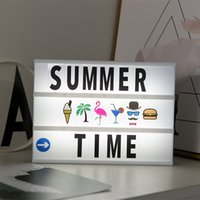 A4 Size USB Battery LED Combination Night light Box DIY Letters Symbol Cards Decoration Lamp Message Board Lightbox