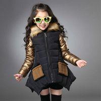 Мода малыши зима Baby Girl Теплого проложенного Ребенок сгущает меховой воротник досуг хлопок проложенных ветровок Пальто для подростков мальчиков зимних пальто xBUJ #