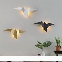 Modern Metal Kuş Duvar Lambası Nordic Duvar Aplikleri Yatak Lambası Led Ayna Işıklar Banyo Salon Yatak Duvar Aydınlatma Ev Dekorasyonu