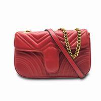 Mode Marmont Tasche Frauen Umhängetaschen PU Leder Kette Kreuz Body Taschen Weibliche Handtaschen Totes Messenger Bags Clutch Rucksack Brieftasche