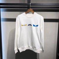 MONOGRAMA DE LA FLOR bordó la camiseta de los hombres Desingers Hoodies de manera ocasional de las mujeres suéter suéter blanco Pareja Calle Negro