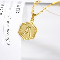 Tiny Gold Initial Letter Necklace For Women Stainless Steel A-Z Alphabet Pendant Necklace Jewelry Christmas Gifts Bijoux Femme