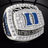 Hohe Qualität 2015 Duke Blue Devils nationale Meisterschaft Ring, 2015 populäre Art und Weise Sportfans Großhandel Ehering solide