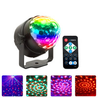 LED Disco KTV Bar 3W lumières avec lampes laser en plastique activées au son Mini Crystal Magic Ball Light pour Nigjht Club Party Décorations