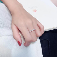S925 gümüş Lüks zirkon Bayanlar halkaları Twinkle Nişanlanma Üstün kalite Yüksek teknoloji Serbest Dans parti r nakliye teklif