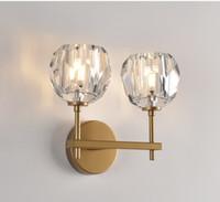 RH moderna K9 de cristal de pared LED lámpara de luz para el dormitorio Decoración lámpara de pared lámpara de cabecera de la luminaria Espejo Iluminación