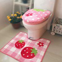 3шт / Set Ванная комната Мягкая Туалет сиденье крышка + O кольцо Наборы + U-образный Ковер Утолщение грелка Коврик для ванной Closestool колпака Туалет Pad