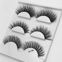 mezclar estilos 3 en 1 nuevos estilos de espesor de capa larga murti diario herramientas de maquillaje Pestañas sintéticos de alta calidad 3D pestañas falsas