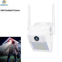 Açık Kablosuz WIFI IP Kamera 2MP Duvar Lambası Güvenlik Kamera Iki Yönlü Ses Renk Gece Görüş Projektör Güvenlik Kamera AS-IP903TYD