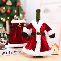 الإبداعية زجاجة النبيذ حقائب الغلاف الرئيسية الطرف الديكور سانتا كلوز عيد الميلاد عيد الميلاد التعبئة ميلاد سعيد عيد الميلاد الديكور الجدول ديكور